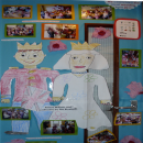 children amde a collage and drawing of royal couple